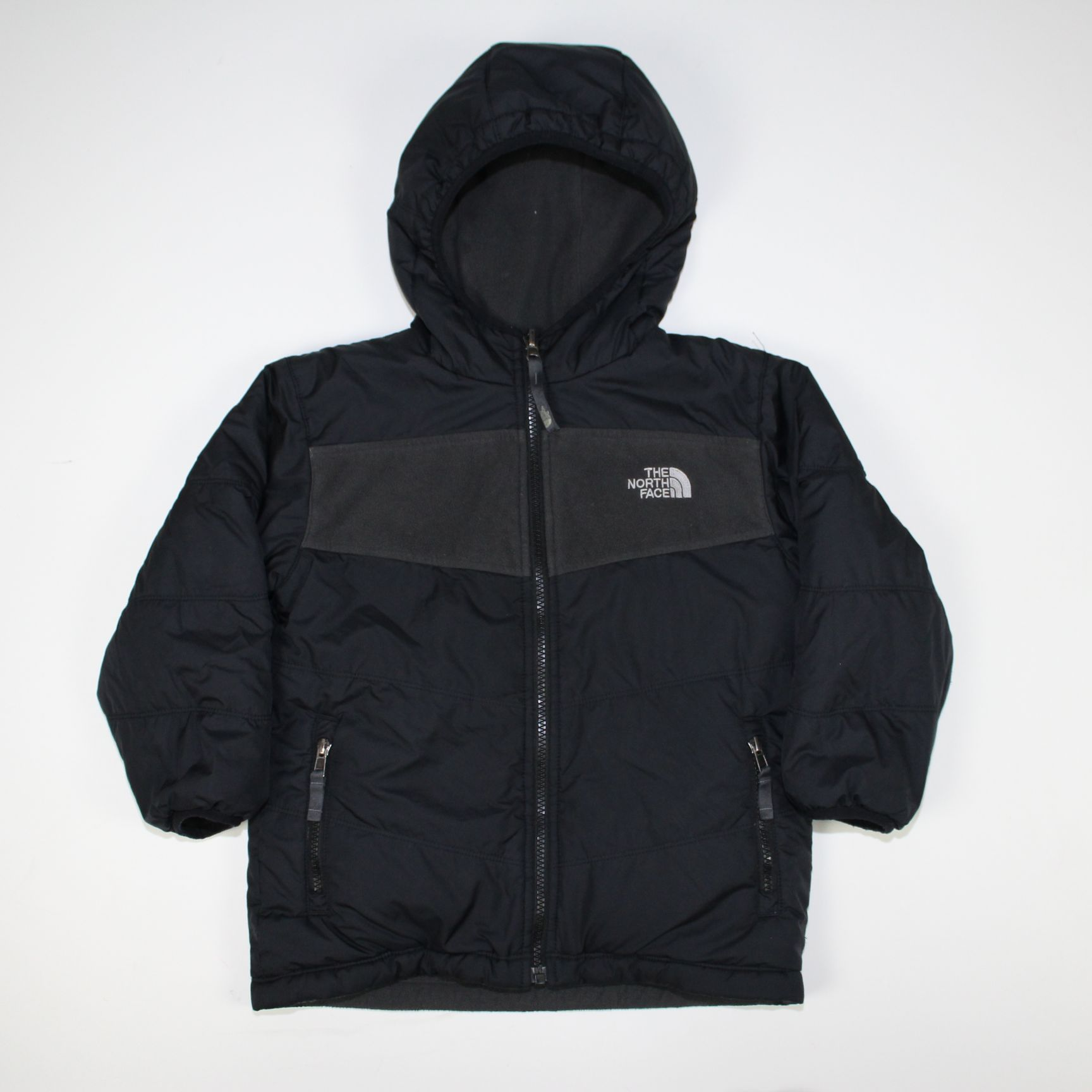a76fc6d00e15 THE NORTH FACE boys reversible TRUE OR FALSE fleece jacket (XXS) AMFN