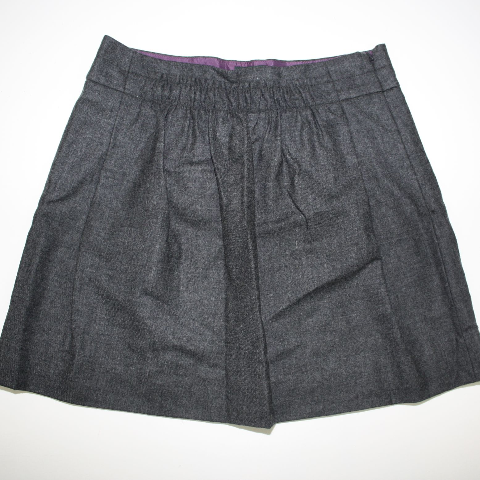 fe55c9faf7 J Crew Gray Wool Mini Skirt | Saddha